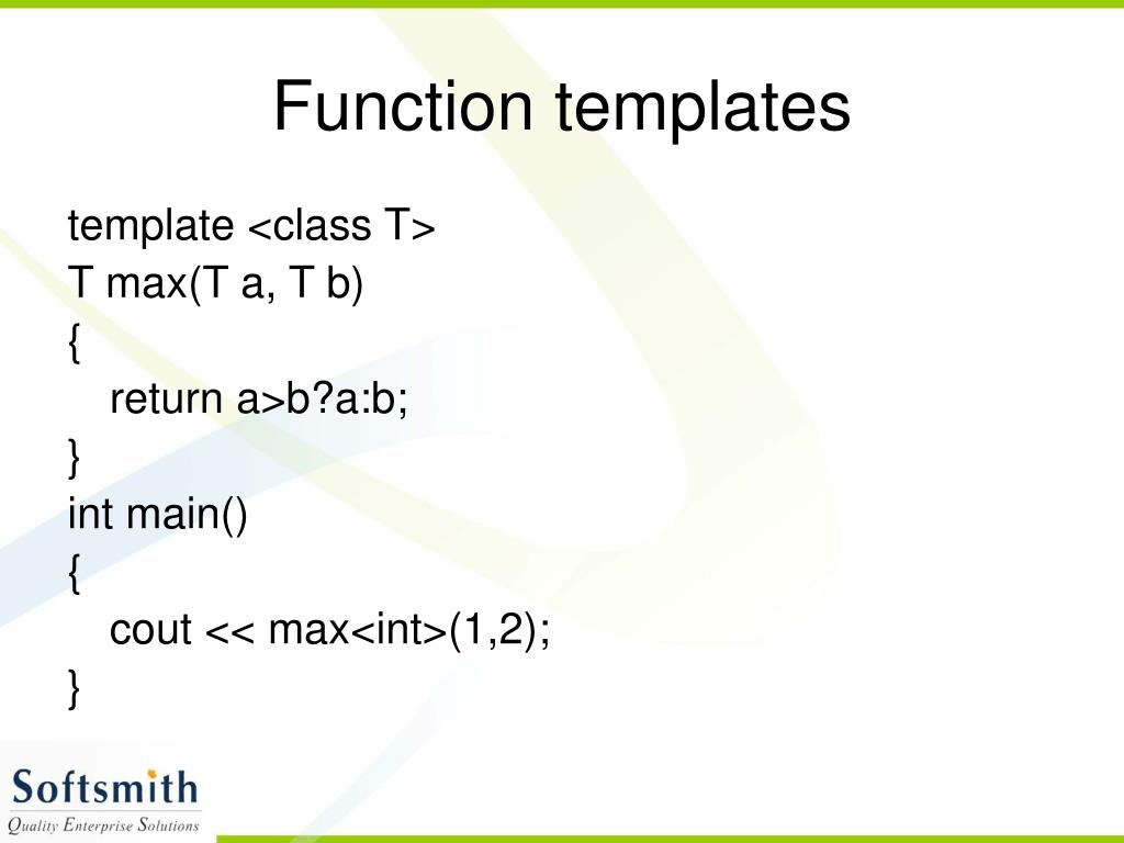 Function templates