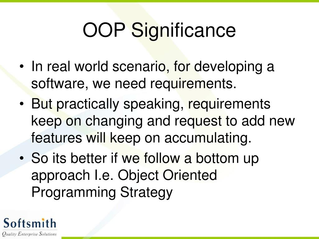 OOP Significance