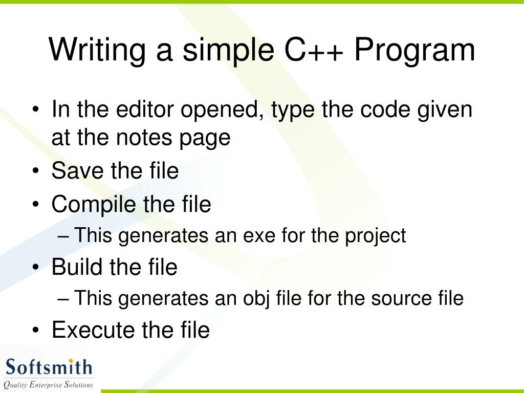 Writing a simple C++ Program