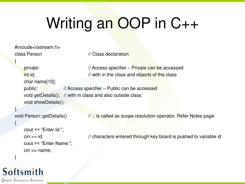 Writing an OOP in C++