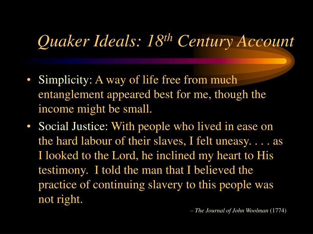 Quaker Ideals: 18