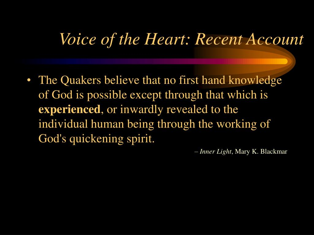 Voice of the Heart: