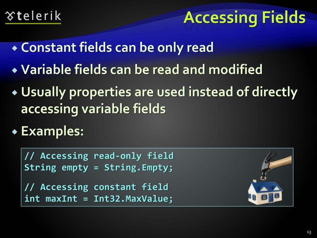 Accessing Fields