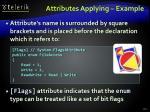 attributes applying example