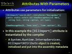 attributes with parameters