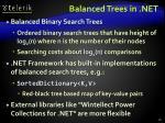 balanced trees in net