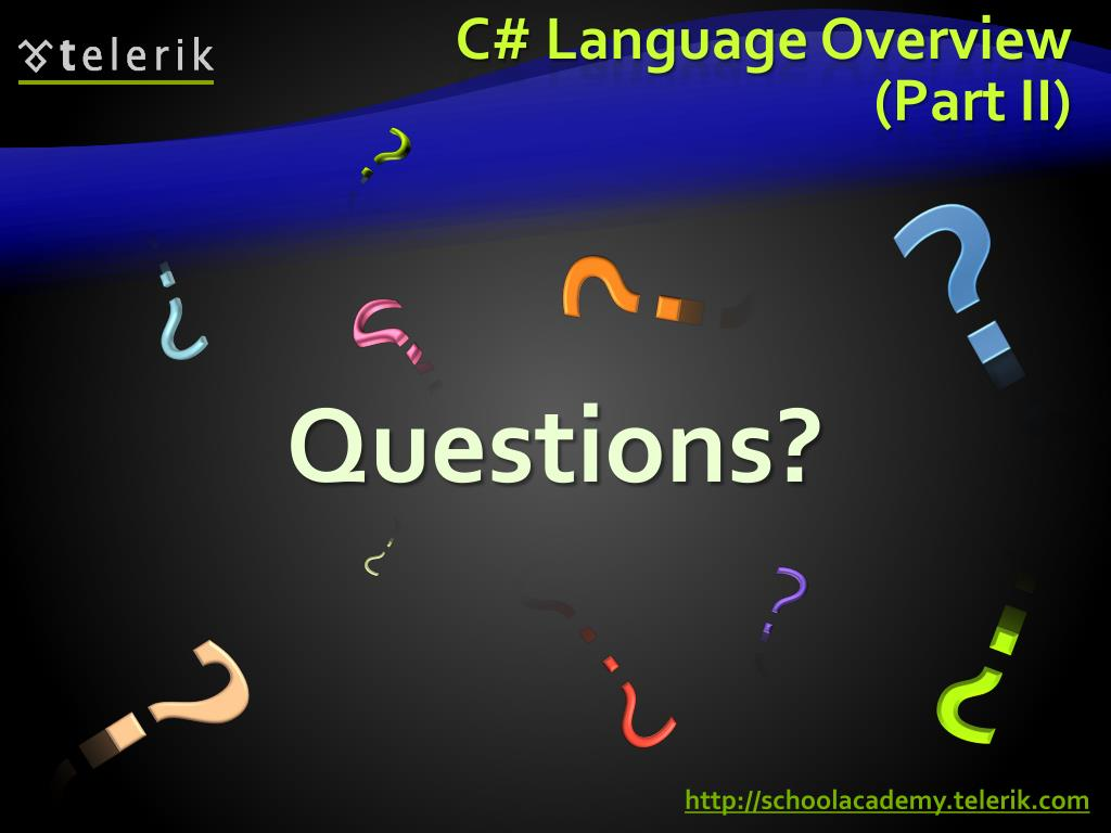 C# Language Overview