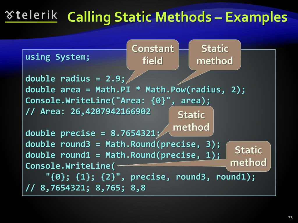 Calling Static Methods