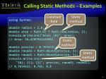 calling static methods examples