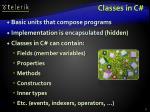 classes in c