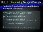 comparing strings example