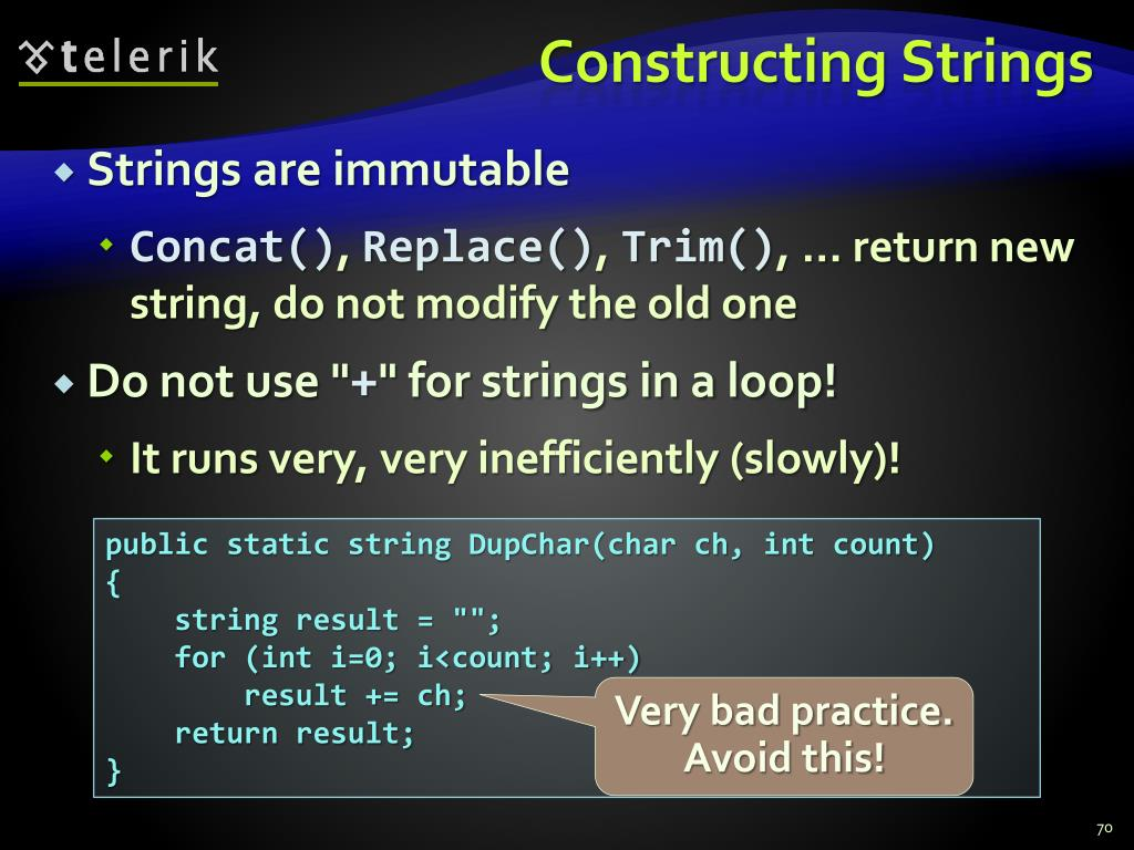 Constructing Strings
