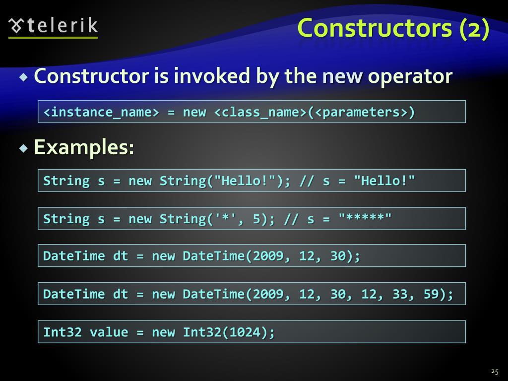 Constructors (2)