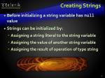 creating strings