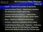 dictionary tkey tvalue class 3