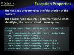 exception properties