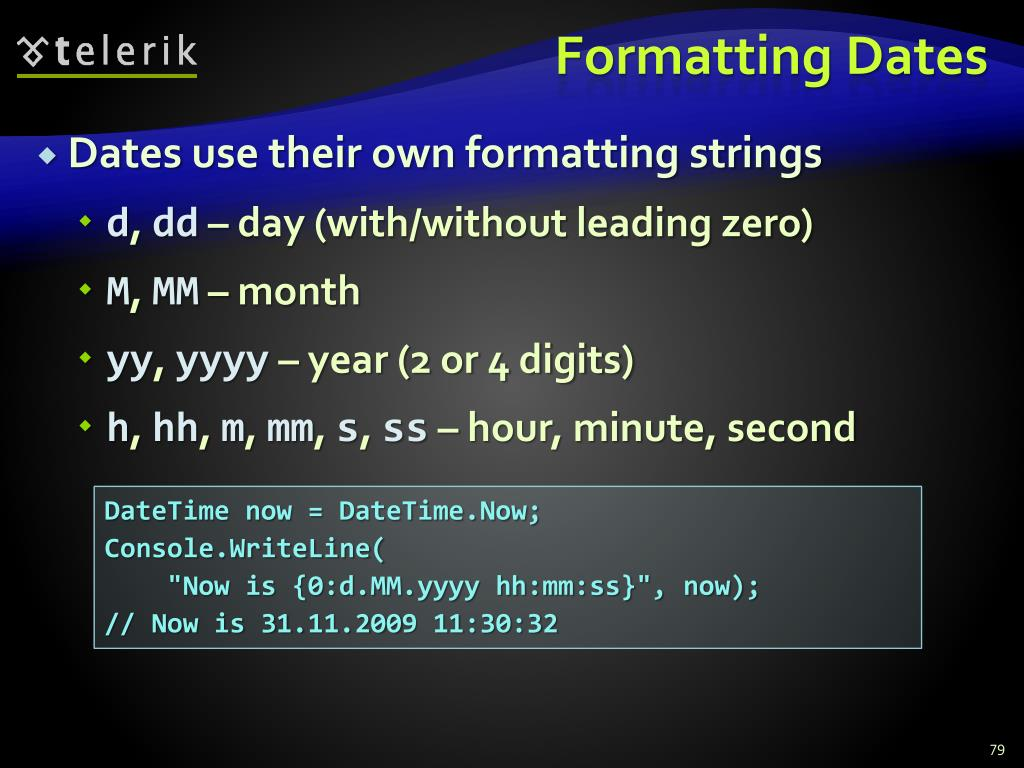 Formatting Dates