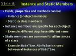 instance and static members