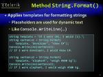 method string format