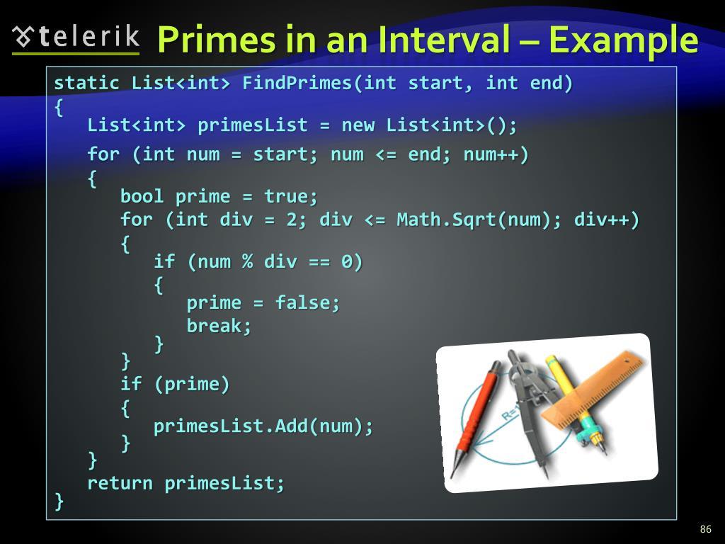 Primes in