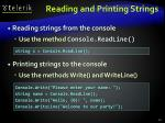 reading and printing strings