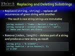 replacing and deleting substrings