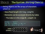 the system string class 2