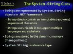 the system string class