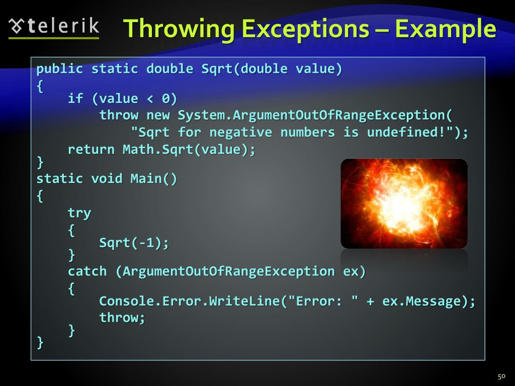 Throwing Exceptions – Example