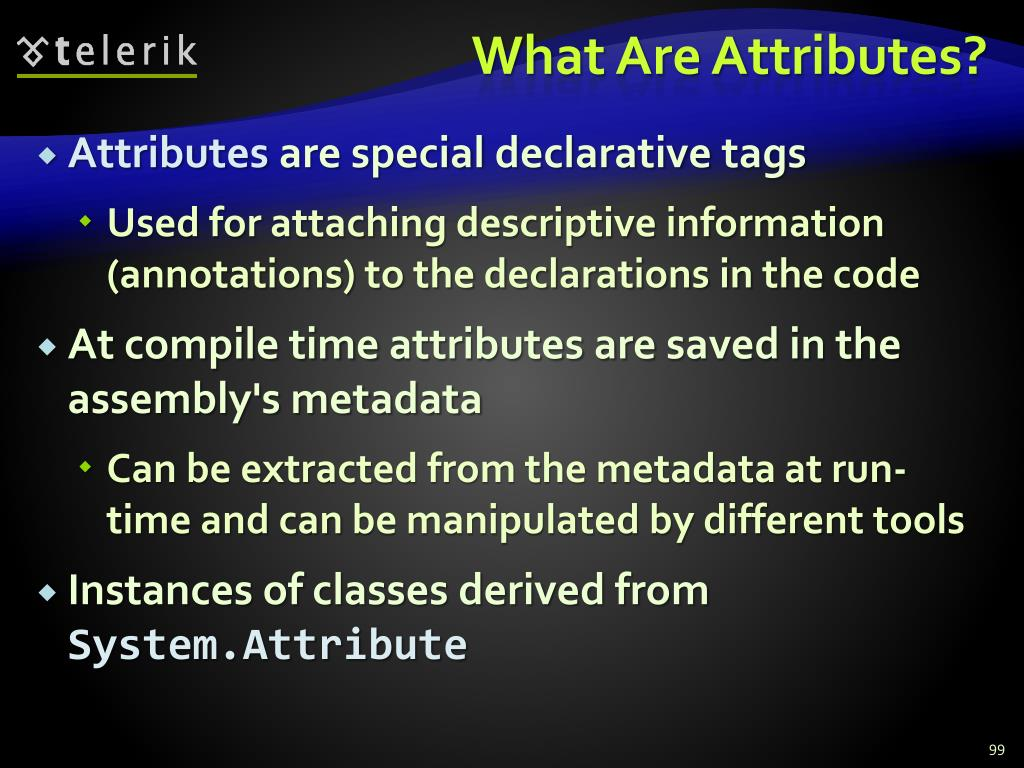 What Are Attributes?