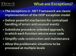 what are exceptions