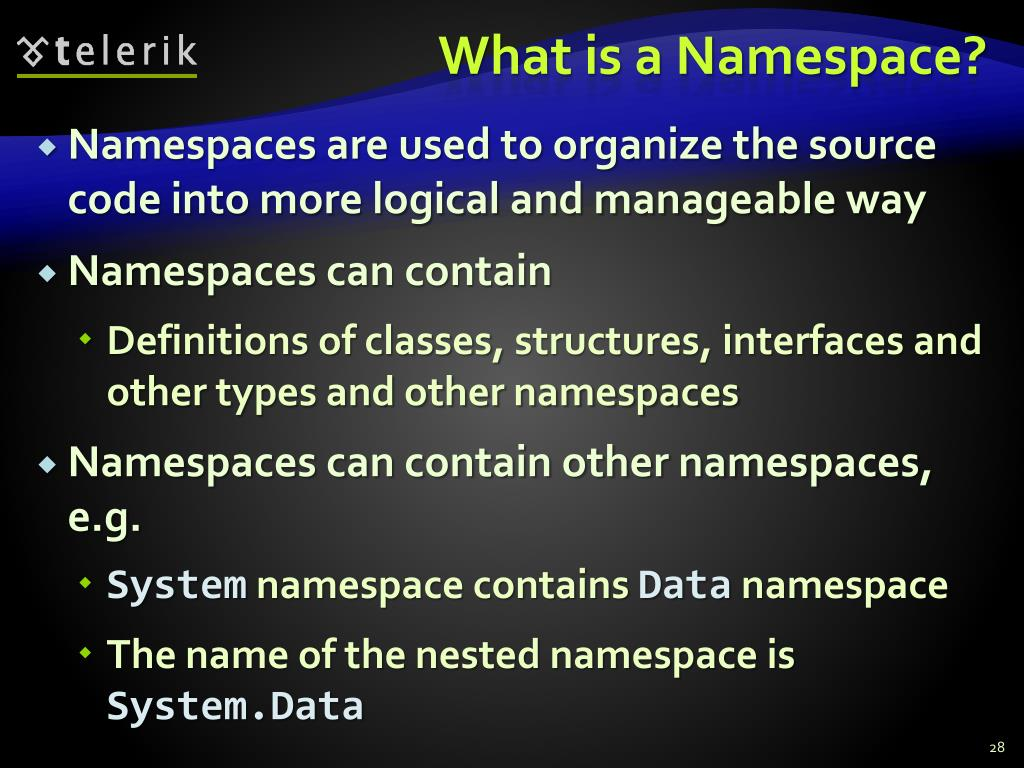 What is a Namespace?