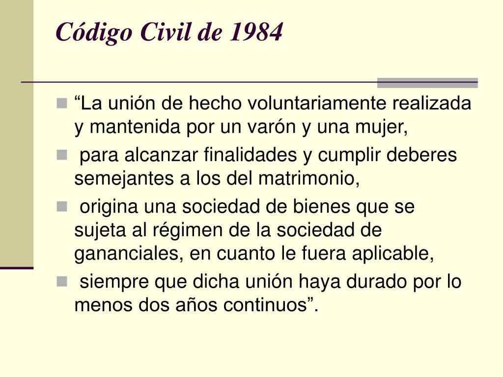 Código Civil de 1984