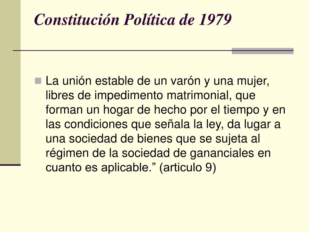 Constitución Política de 1979