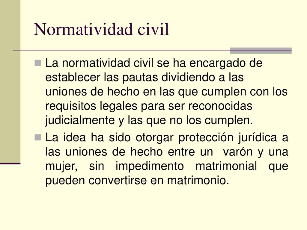 Normatividad civil