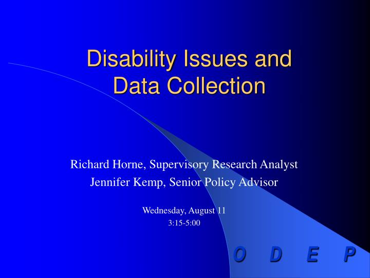 Disability issues and data collection l.jpg