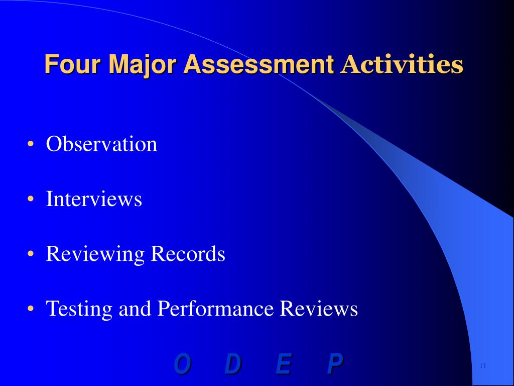 Four Major Assessment