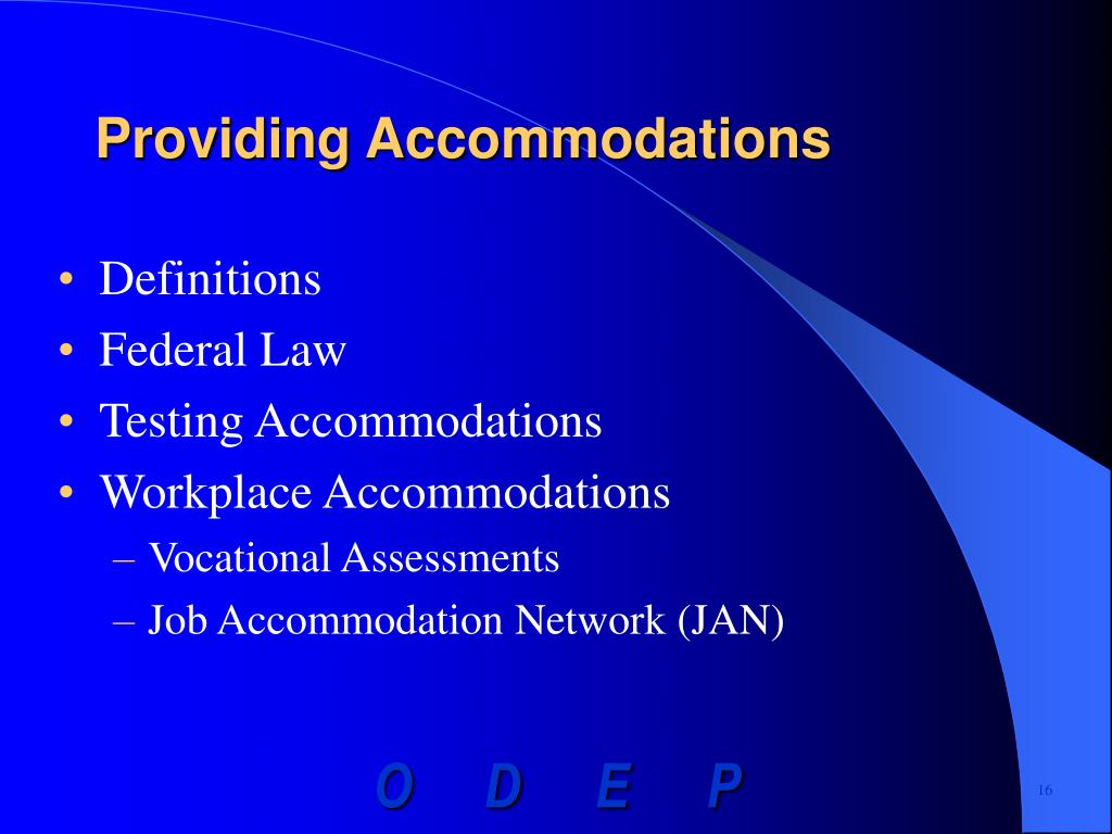 Providing Accommodations