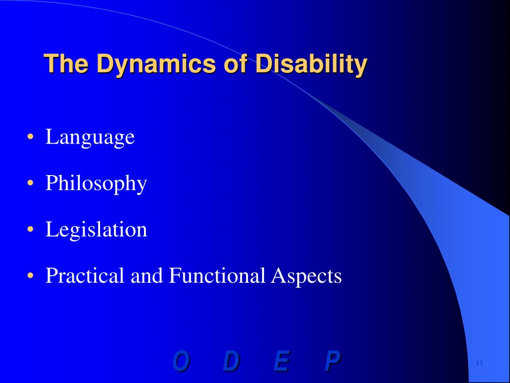 The Dynamics of Disability