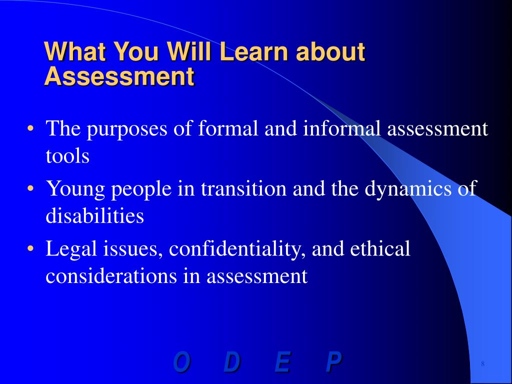 What You Will Learn about Assessment