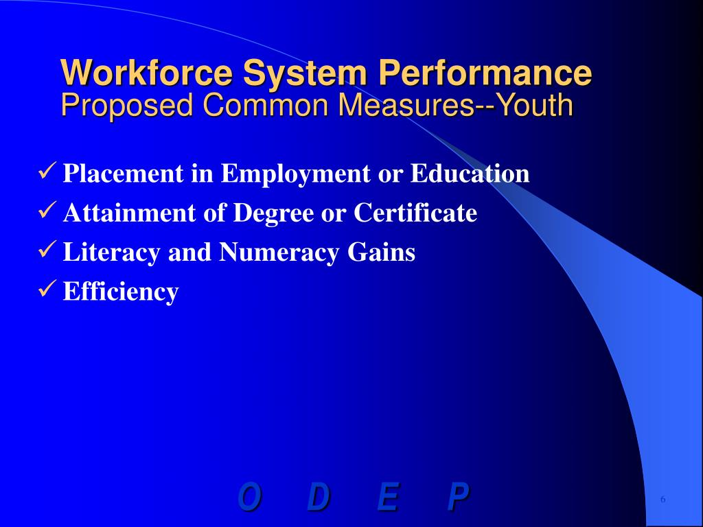 Workforce System Performance