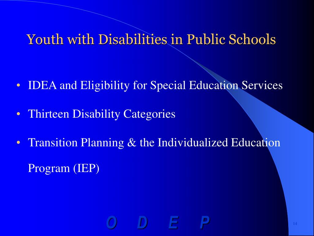 Youth with Disabilities in Public Schools