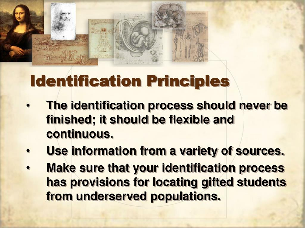 Identification Principles
