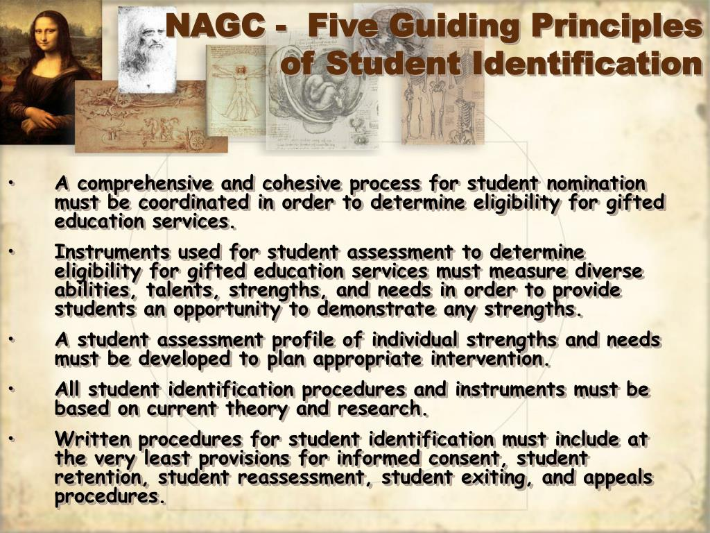NAGC -  Five Guiding Principles of Student Identification
