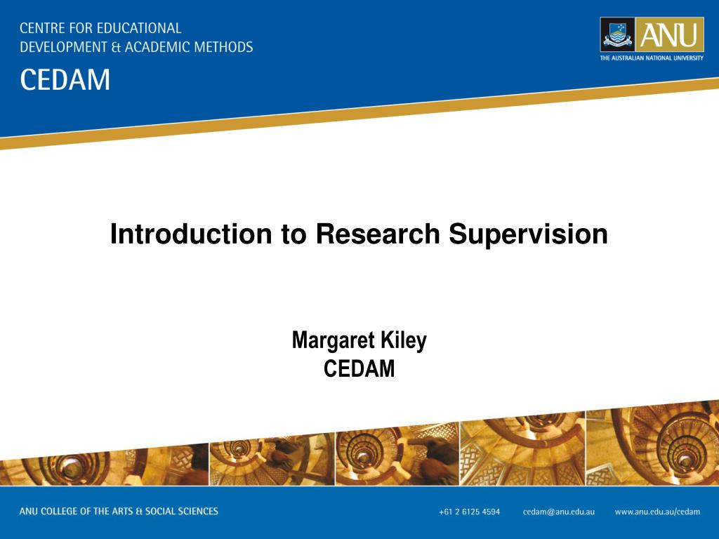 Introduction to Research Supervision