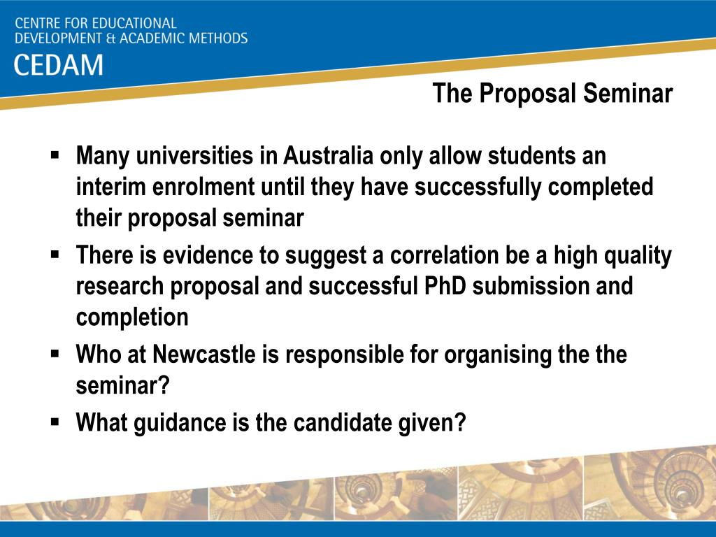 The Proposal Seminar