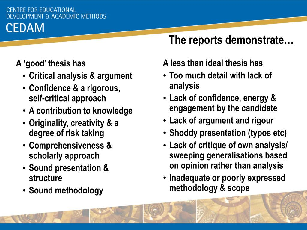 The reports demonstrate…