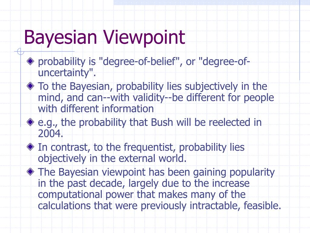 Bayesian Viewpoint