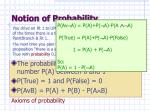 notion of probability