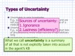 types of uncertainty7